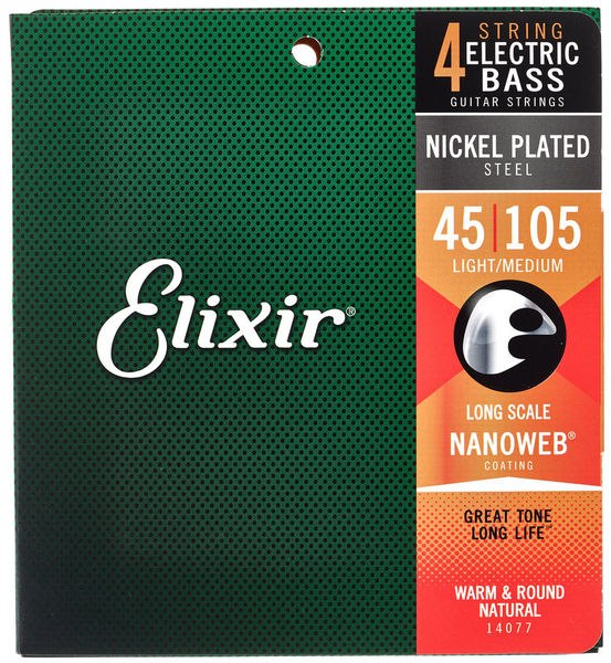 Elixir 14077 Nanoweb Light/Medium Bass Strings
