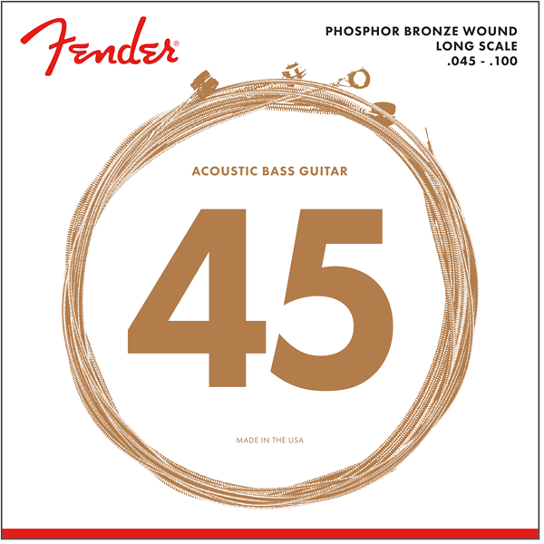 Fender 8060 Acoustic Bass Strings, Phosphor Bronze, LS 45-100