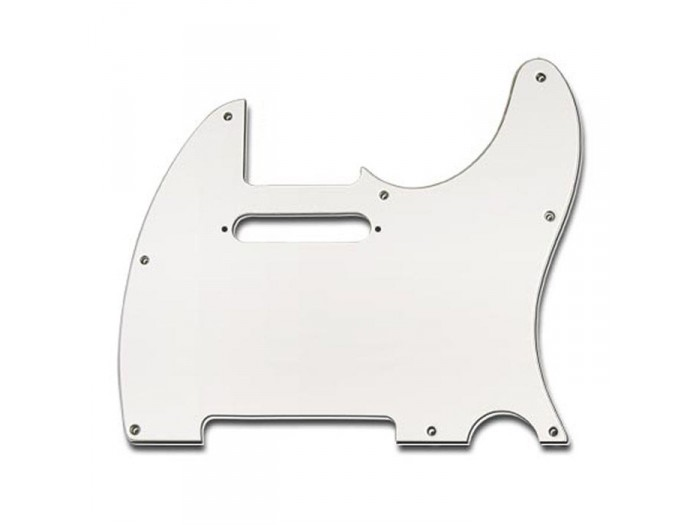 Boston 8-Hole 3-Ply Tele Pickguard - White