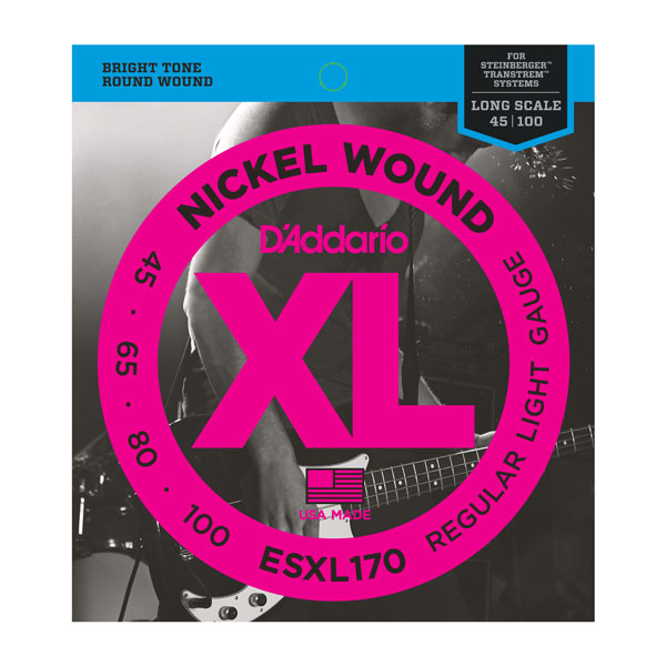 D'Addario ESXL170 Nickel Wound Bass, Light 45-100 Double Ball En