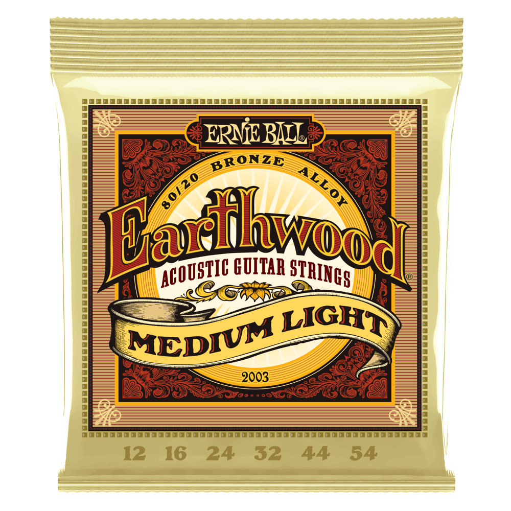 Ernie Ball Earthwood Bronze - Med/Light 2003 12-54