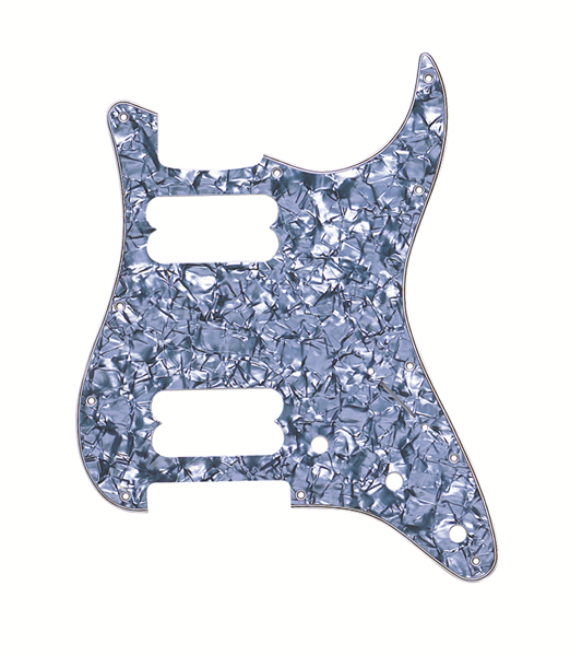 Fender 11-Hole 2HB Strat Pickguard - Black Pearl