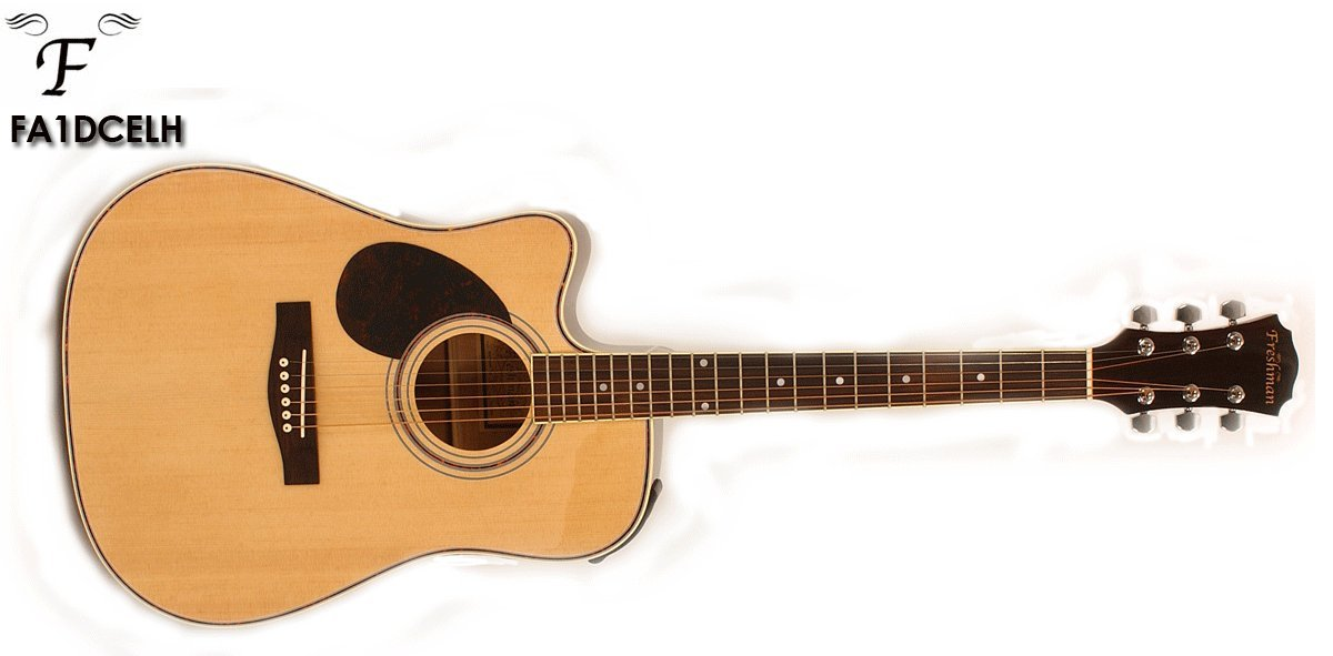 Freshman FA1DCELH Left Handed Electro Acoustic Guitar