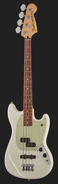 Fender Mustang Bass PJ PF Olympic White