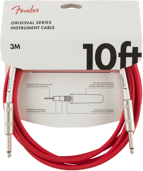 Fender Original Series Instrument Cable 10' - Fiesta Red
