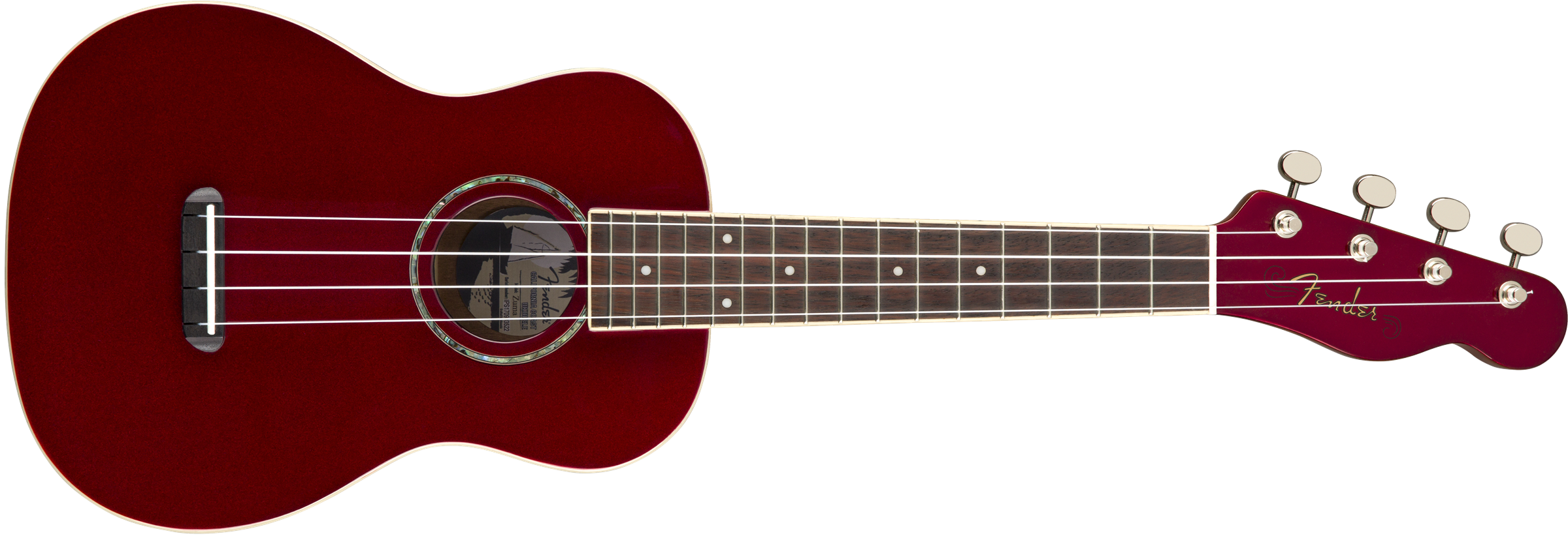 Fender Zuma Classic Concert Ukulele Candy Apple Red