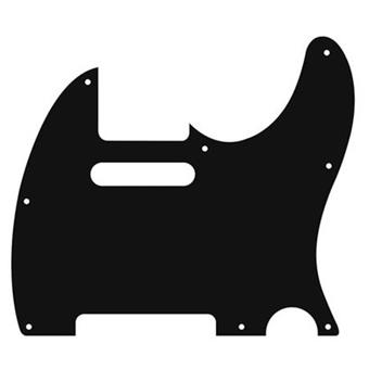 Boston 8-Hole 3-Ply Tele Pickguard - Black