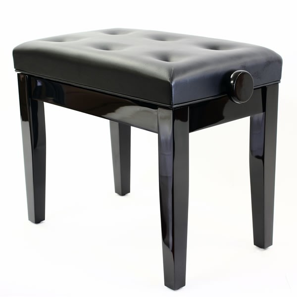 Prima Adjustable Piano Stool - Polished Ebony
