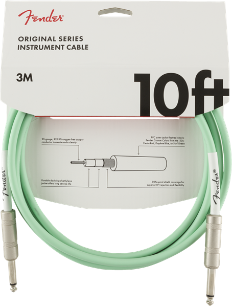 Fender Original Series Instrument Cable 10' - Surf Green
